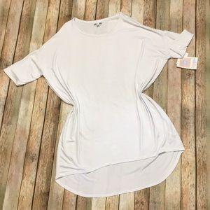 NWT LuLaRoe White Size Small Irma Tunic Top